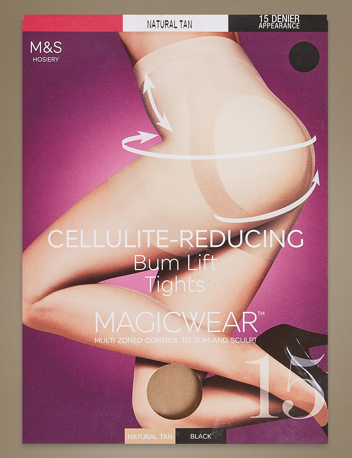 M&S Collection 10 Denier Magicwear Cellulite Reducing Tights