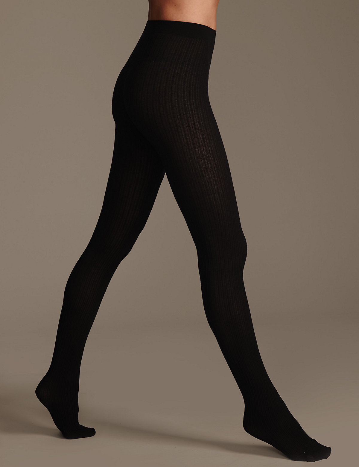 M&S Collection 100 Denier Heatgen Ribbed Opaque Tights