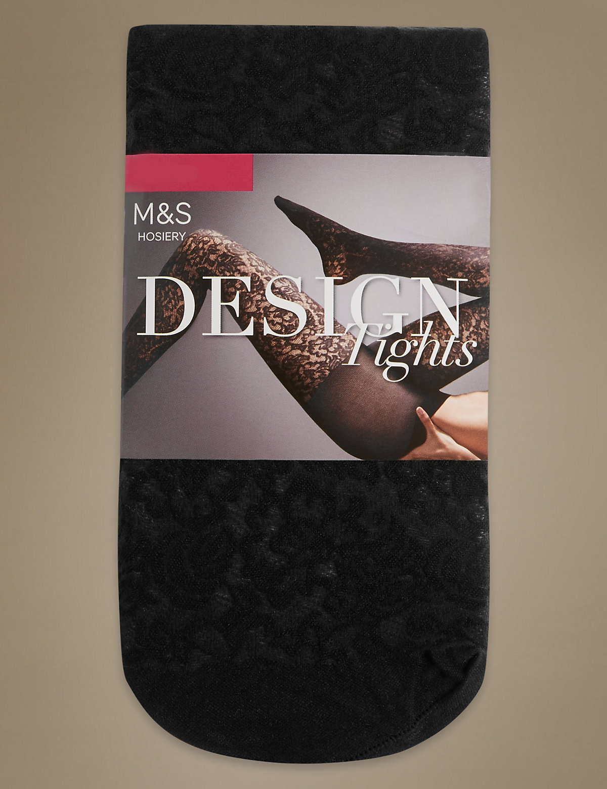 M&S Collection Floral Texture Tights