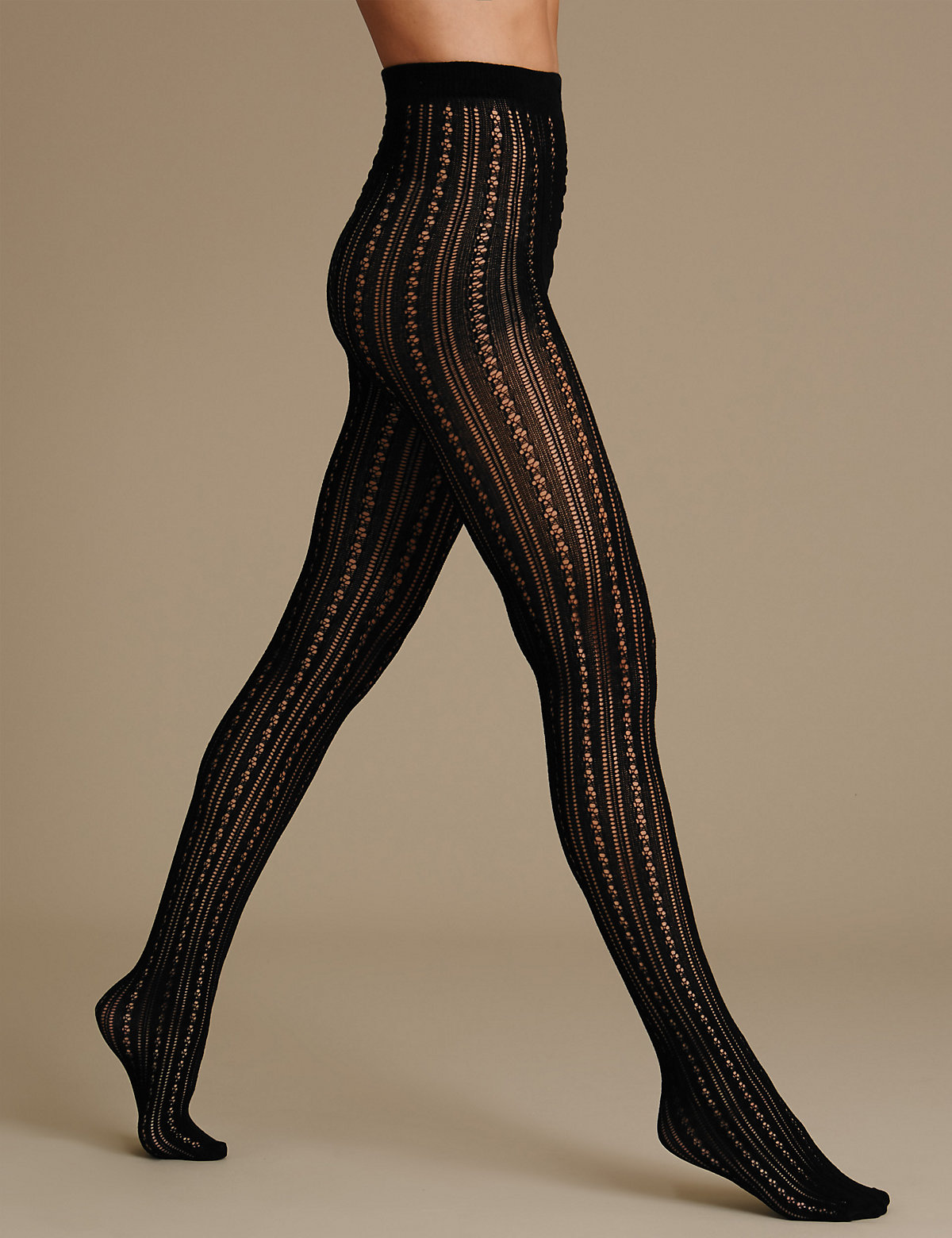 MS Collection Striped Tights Marks and Spencer P22480070