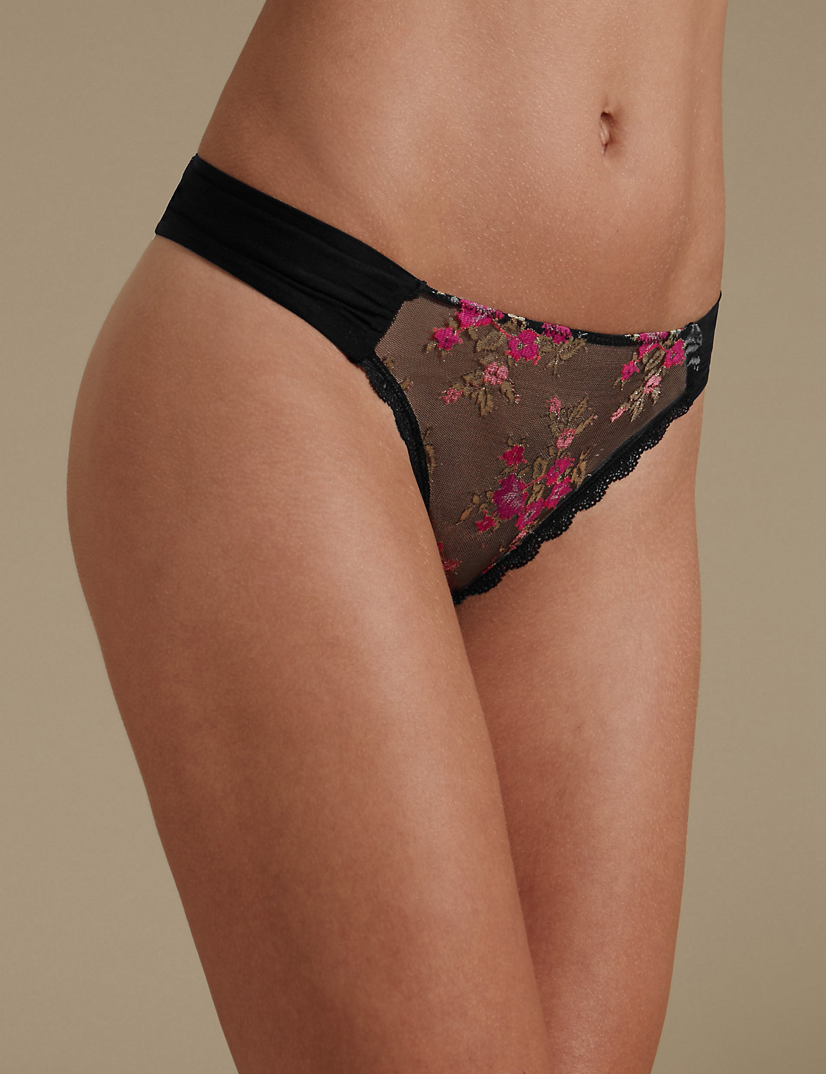 M&s Collection Lace Rio Sweetheart Thong