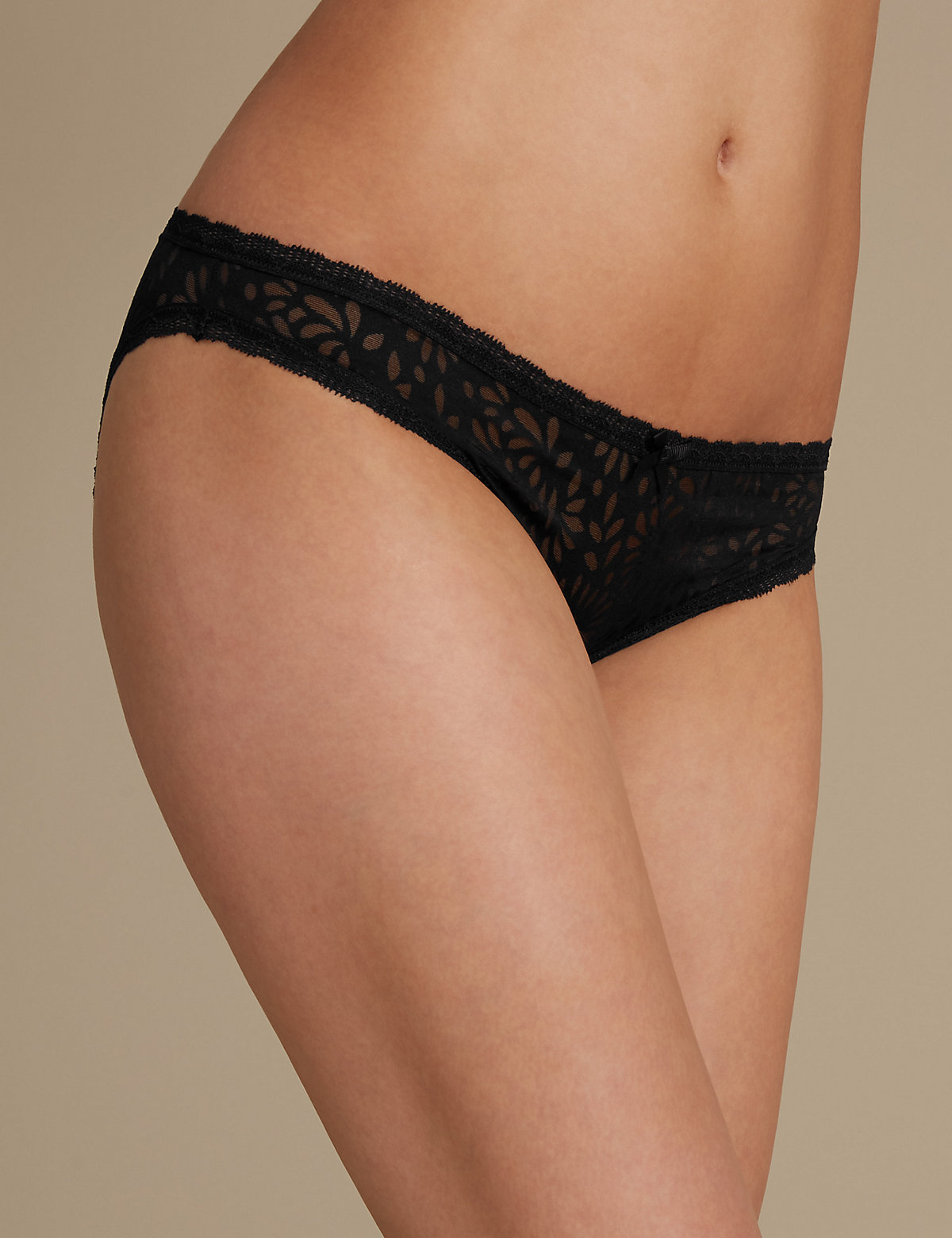 M&s Collection Tattoo Lace Bikini Knickers