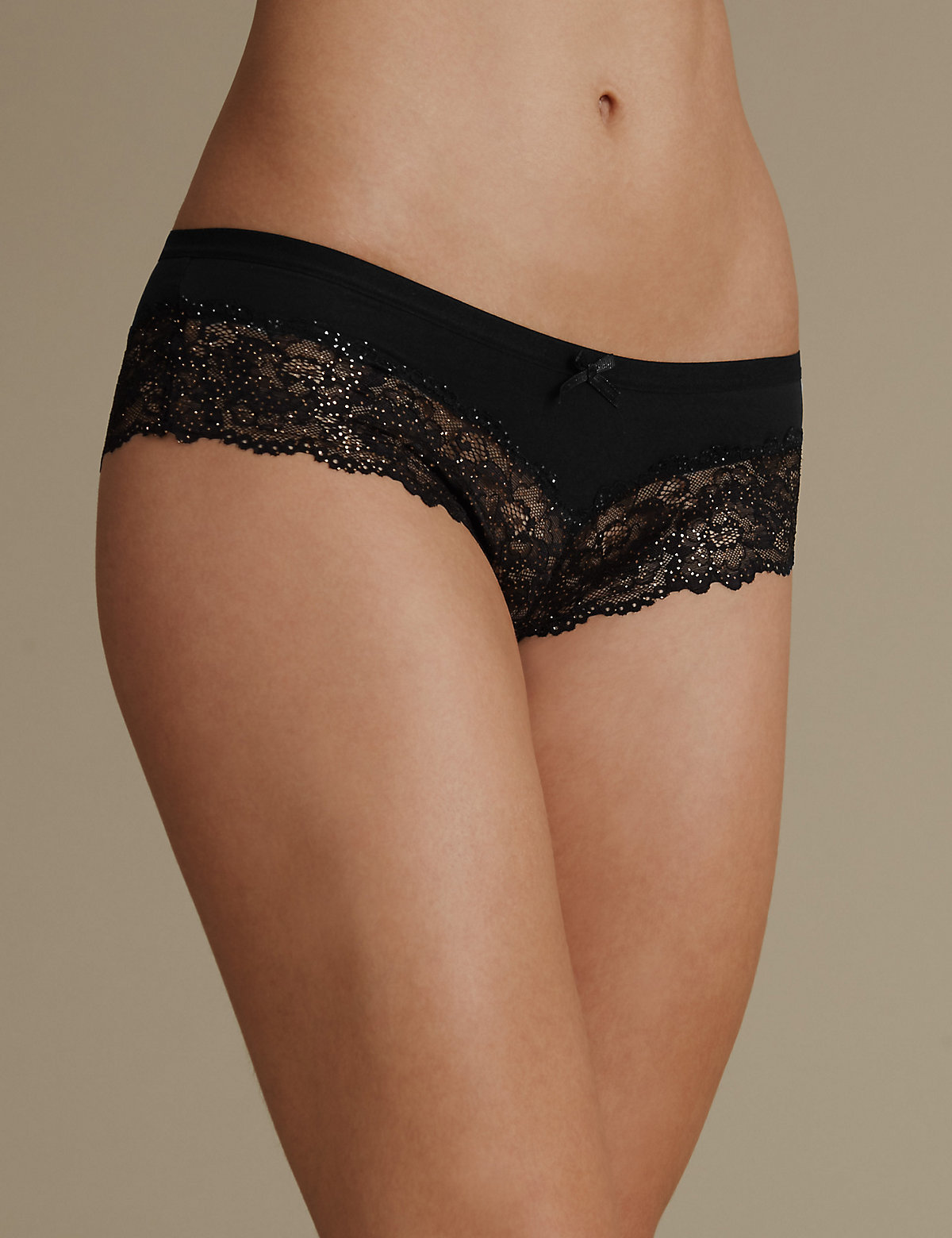 M&s Collection Isabella Lace Brazilian Knickers