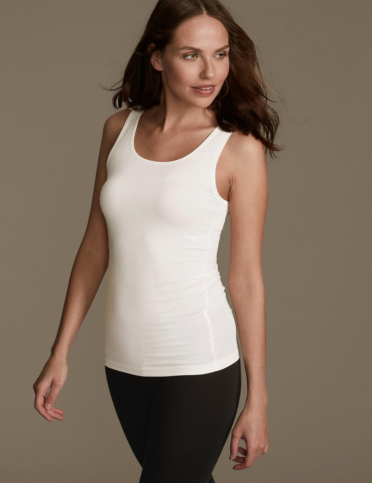 M&S Collection Heatgen Thermal Built Up Shoulder Vest
