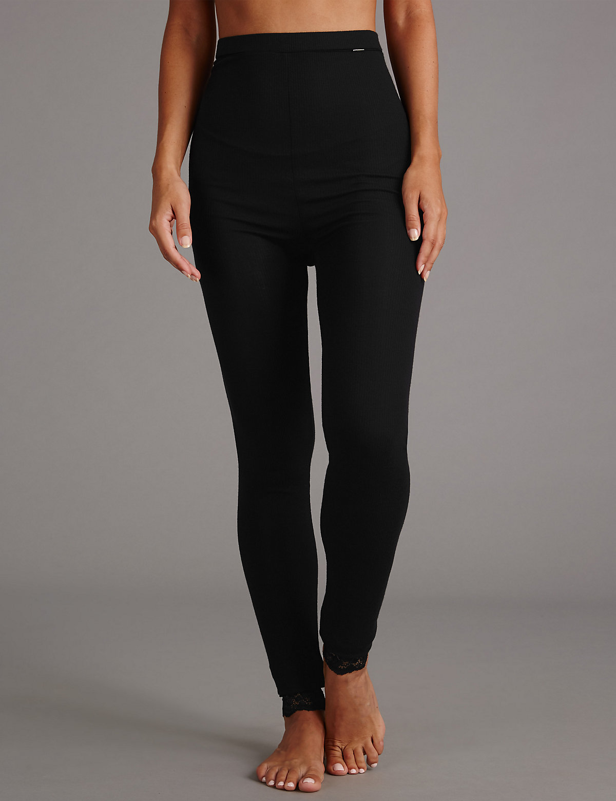 Autograph Silk Modal Thermal Leggings Marks and Spencer P60083673