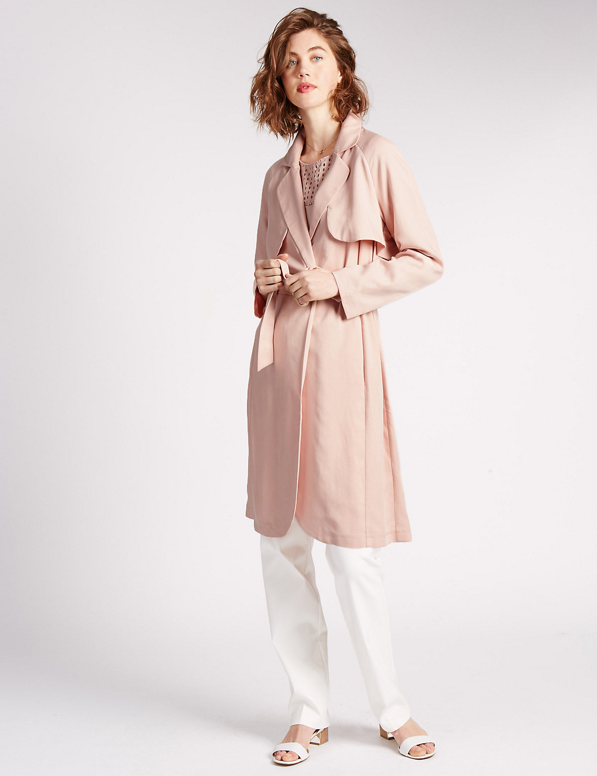 Image of Per Una Belted Trench Coat
