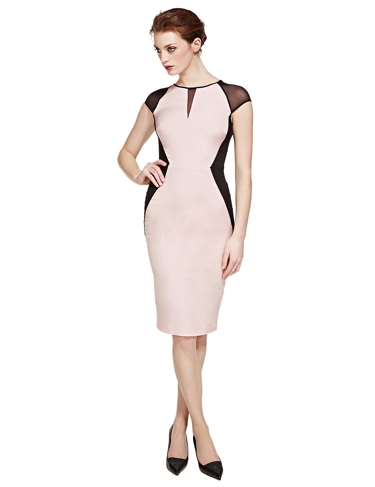 Per Una Speziale Bodycon Colour Block Dress