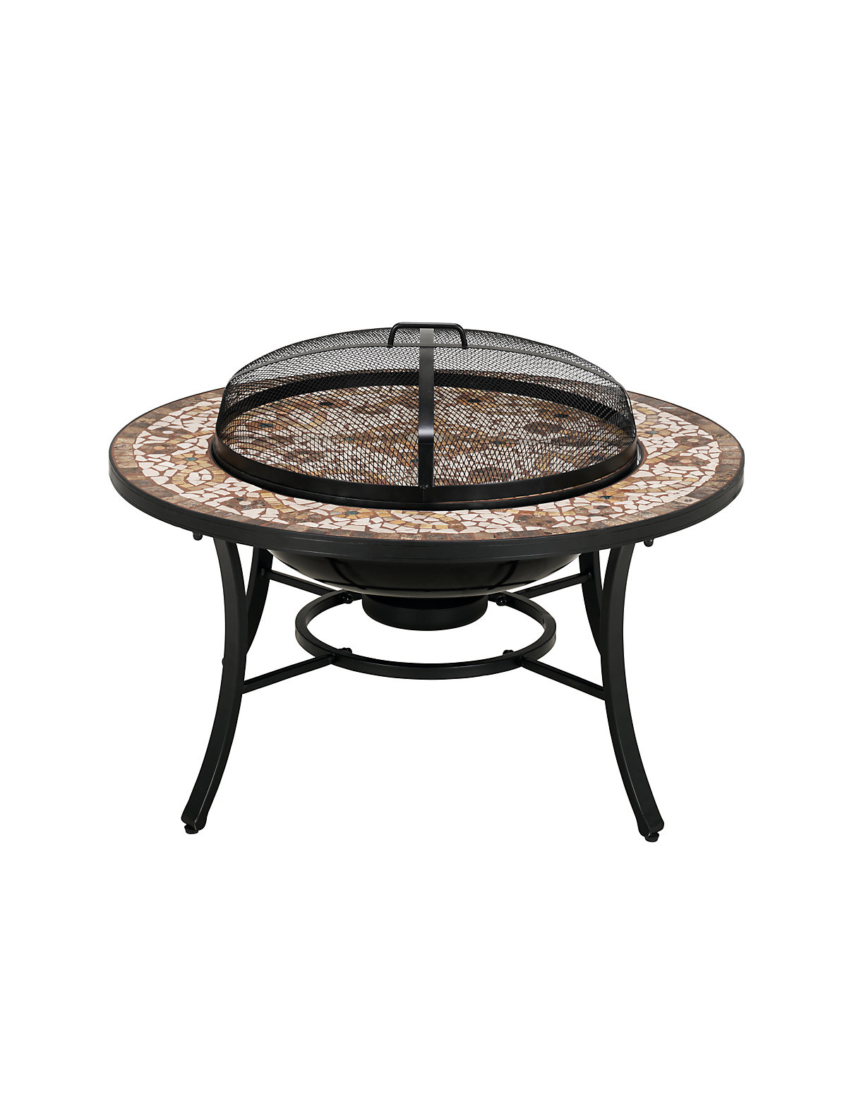 Verona Firepit Dining Table This With Handcrafted Stone Mosaic