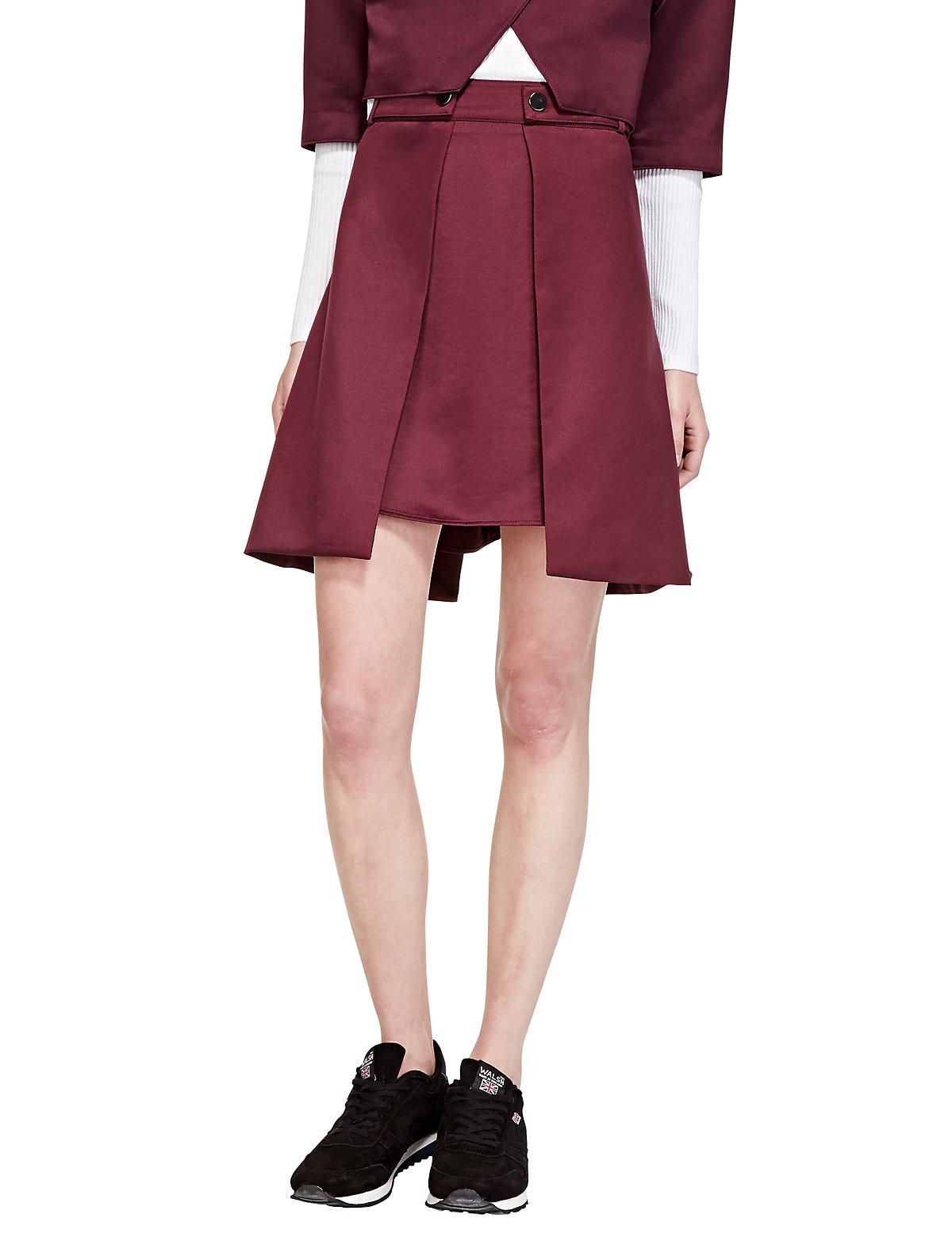Limited London Asymmetrical Mini A-Line Skirt