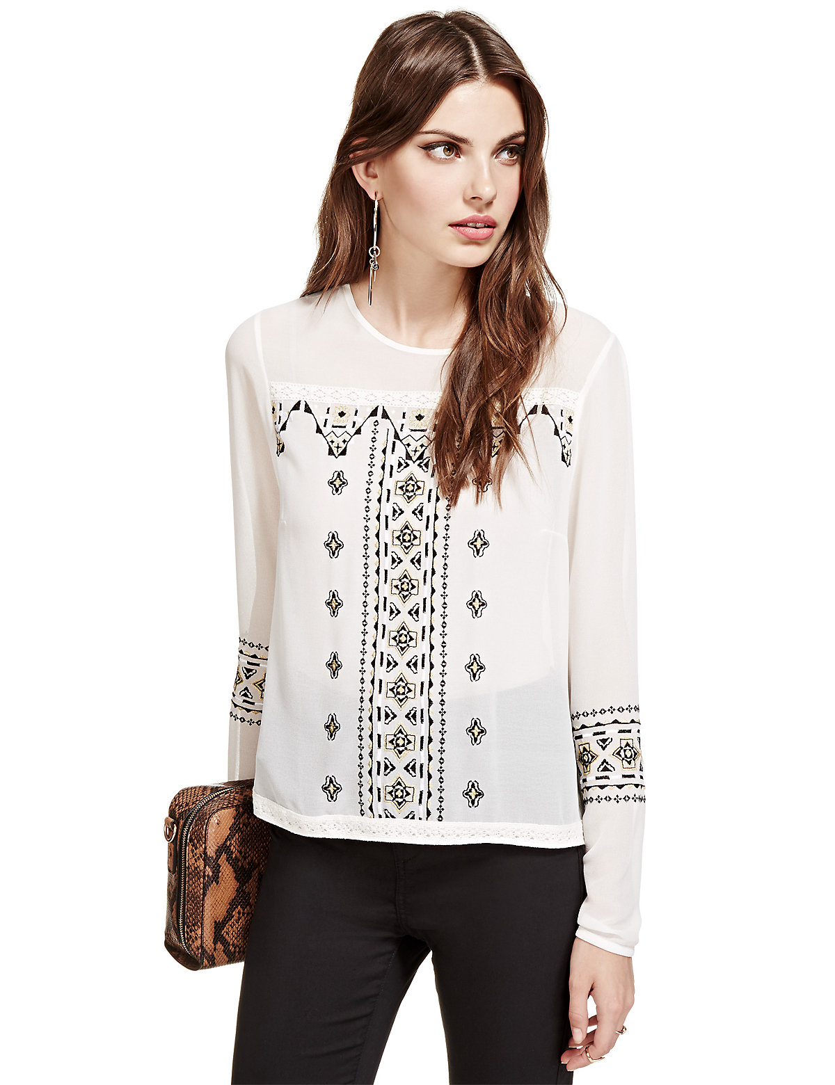 Limited Edition Long Sleeve Embroidered Blouse £35.00 AT vintagedancer.com