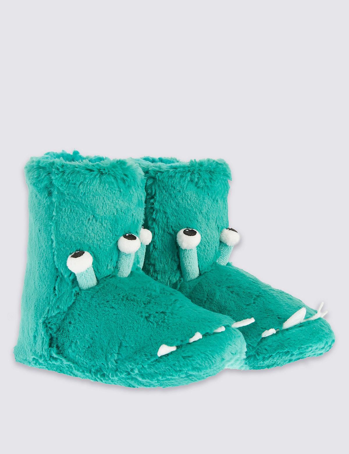 Kids Alien Slipper Boots