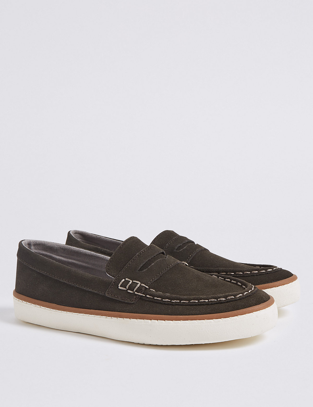 Image of Kids' Suede Loafer Slip-on Shoes