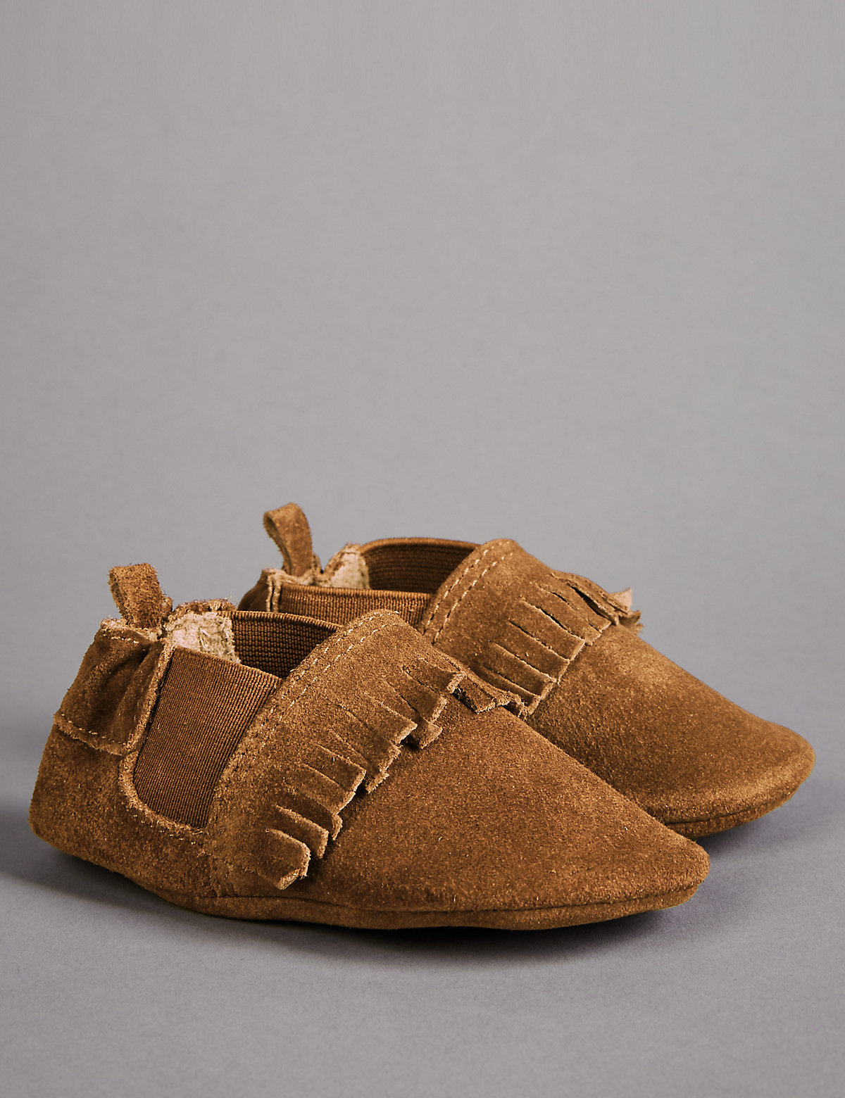 Autograph Baby Leather Fringed Pram Shoes