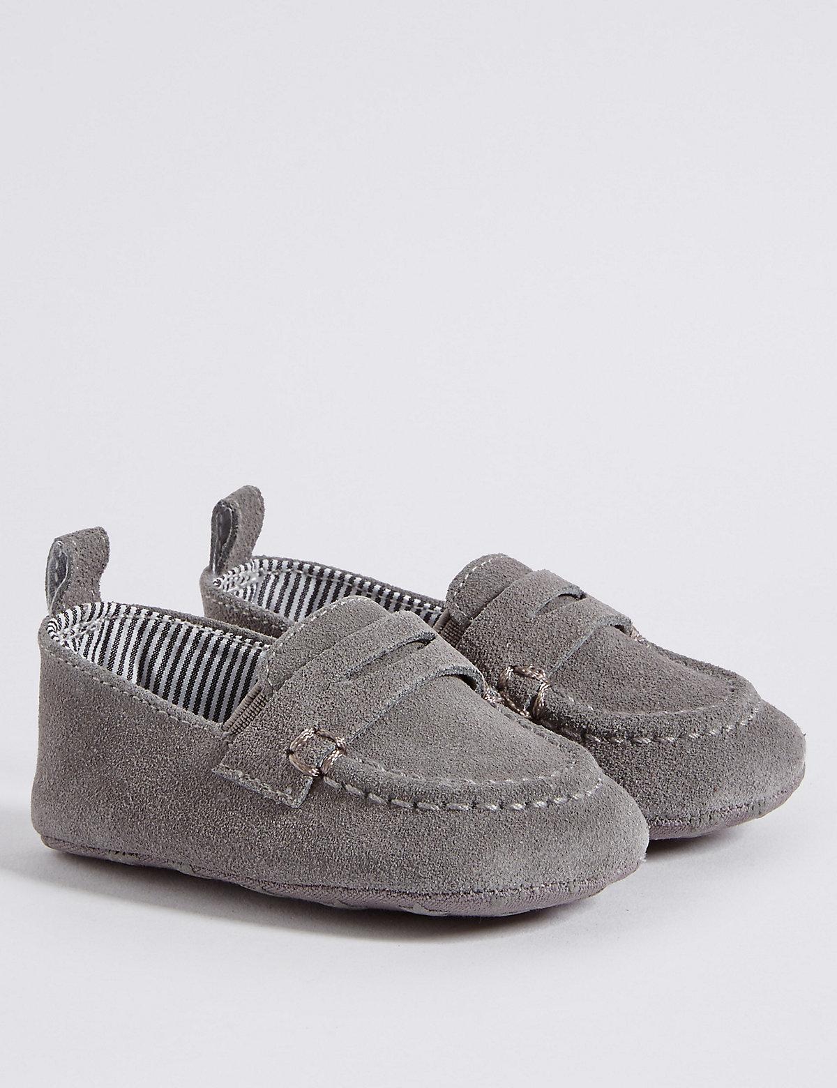 Baby Suede Pram Shoes