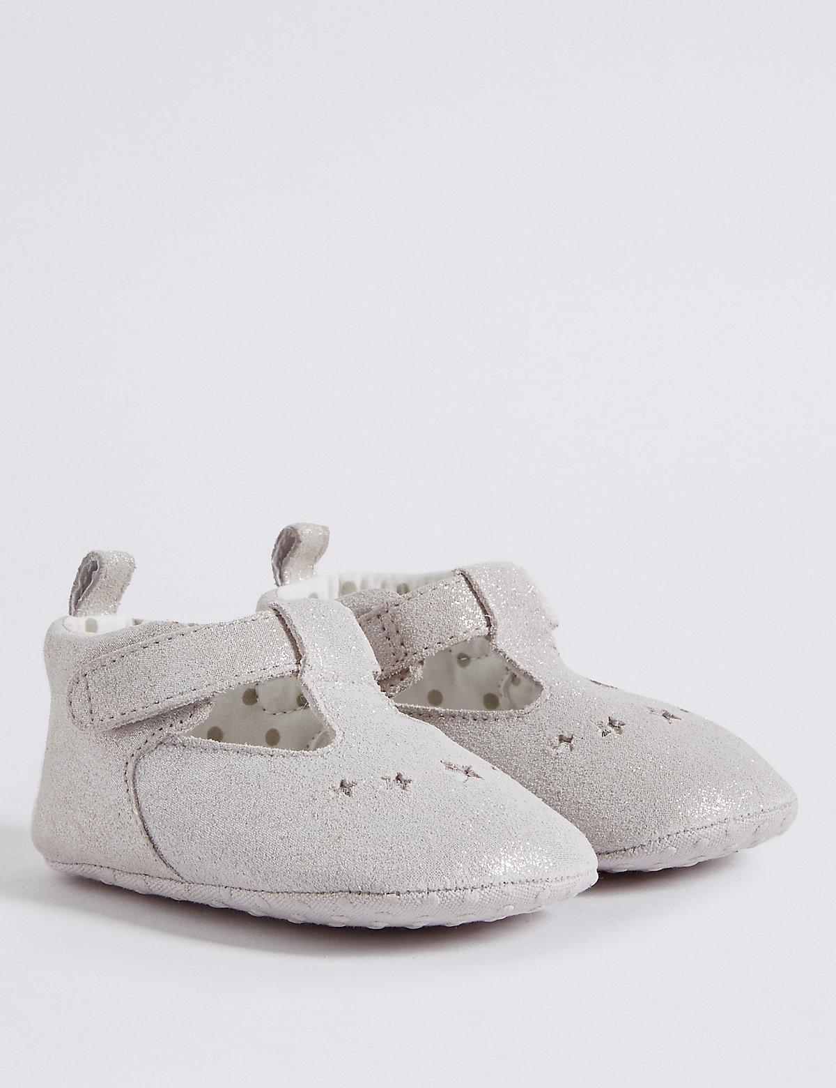 Baby Suede Riptape Pram Shoes