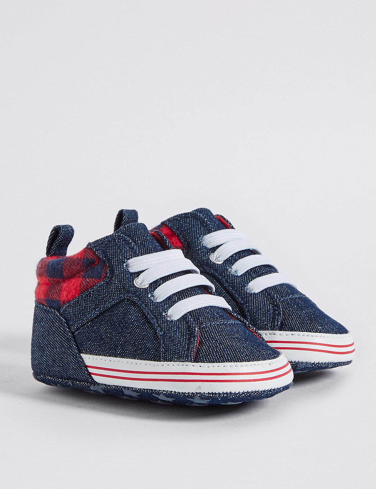 Baby Denim Pram Shoes
