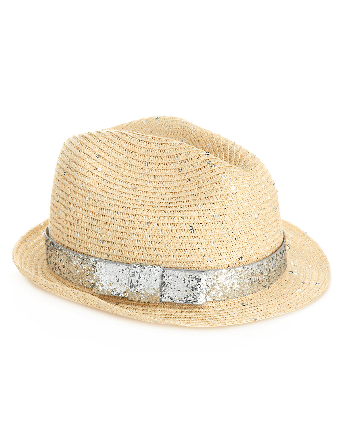 Sequin Embellished Trilby Hat