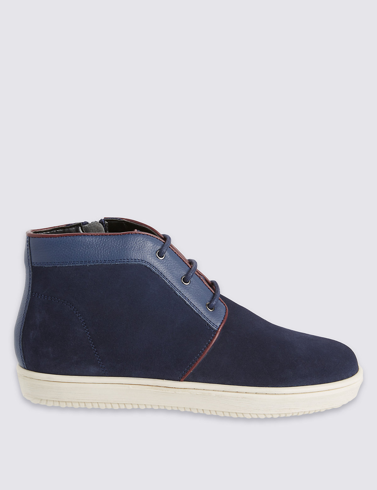 Kids Leather Laceup Chukka Boots