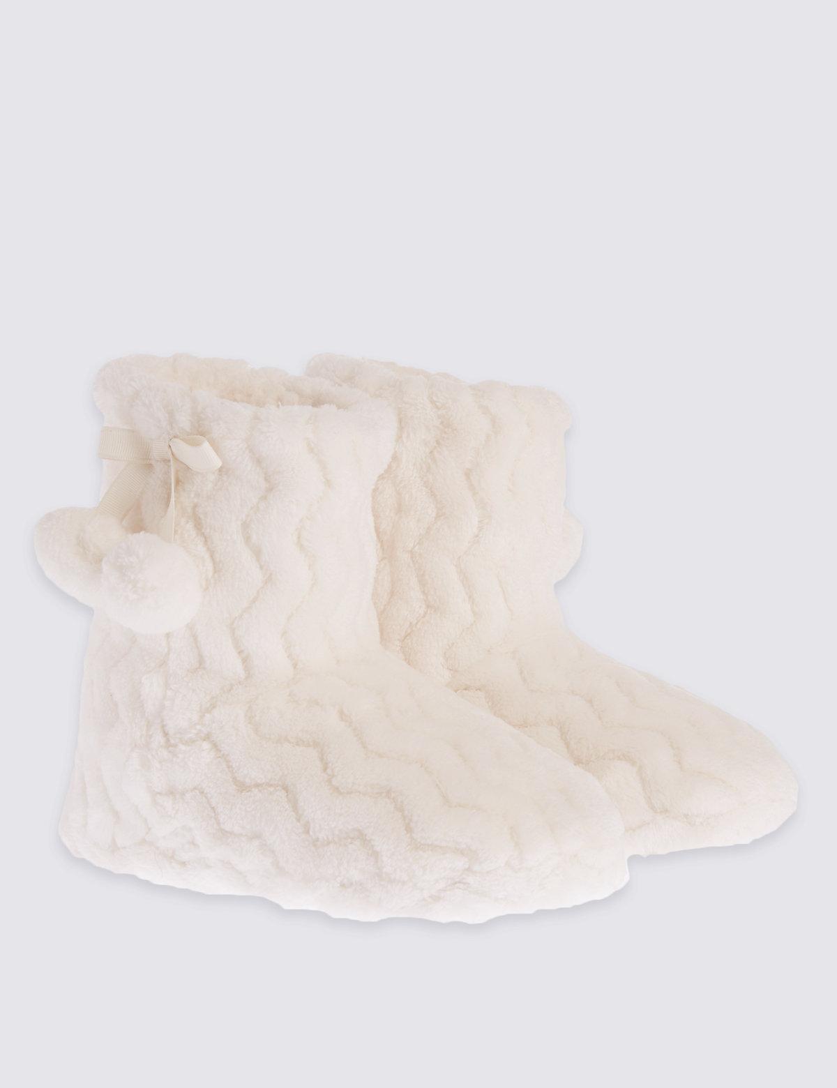 Kids Fur Slipper Boots