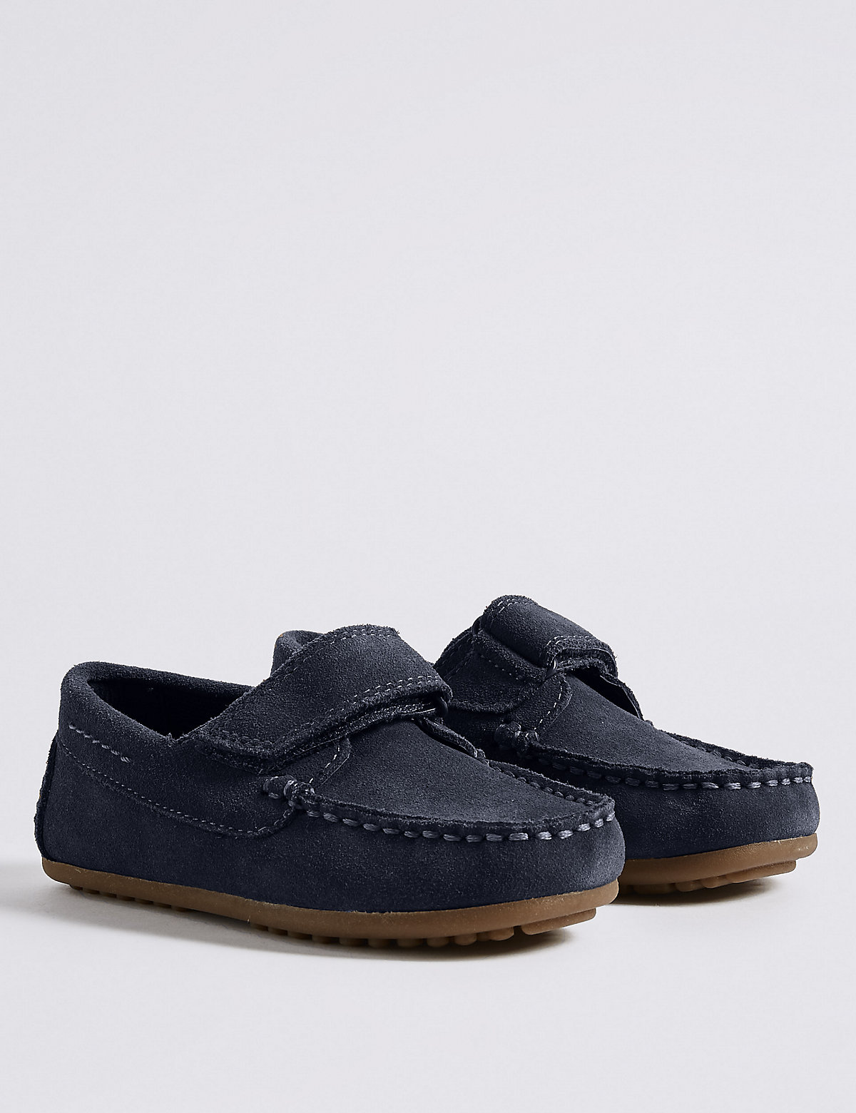 Image of Kids' Suede Driver Slip-on Shoes