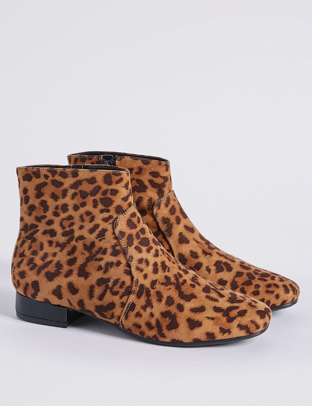 Kids' Leopard Print Ankle Boots