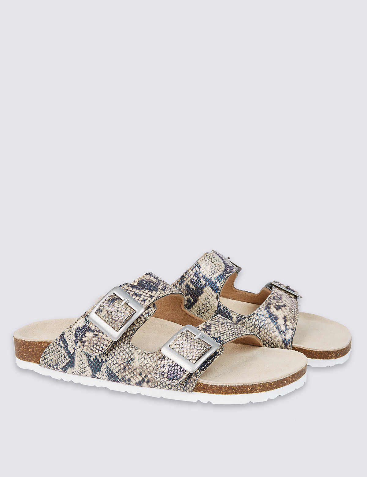 Kids Footbed Animal Print Sandals