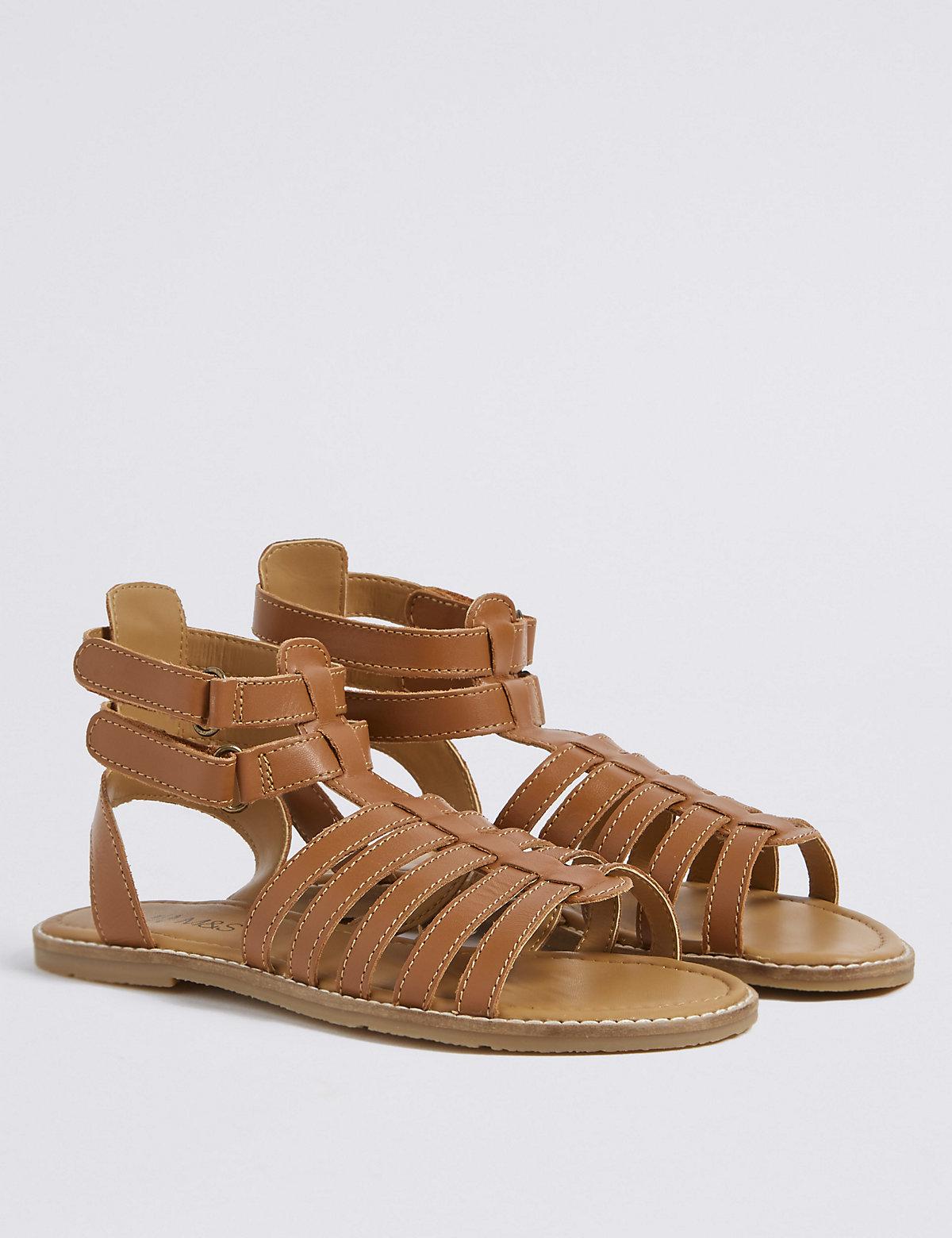 f1978692255f Kids  Leather Gladiator Sandals