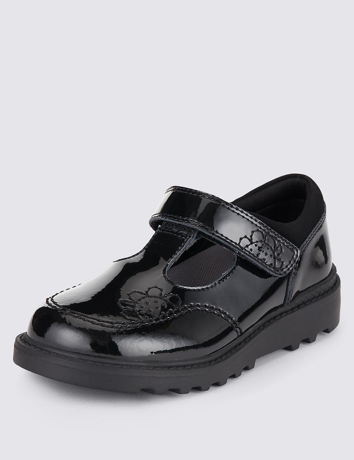 Kids Leather Walkmates Shoes Black