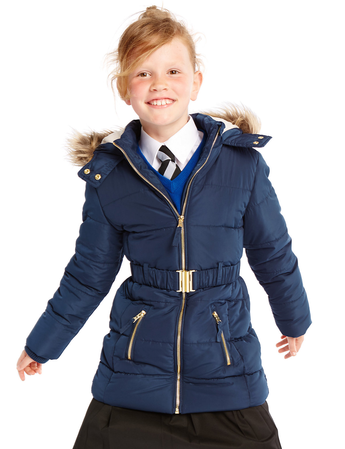 Longline Belted Coat with Stormwear (316 Years)