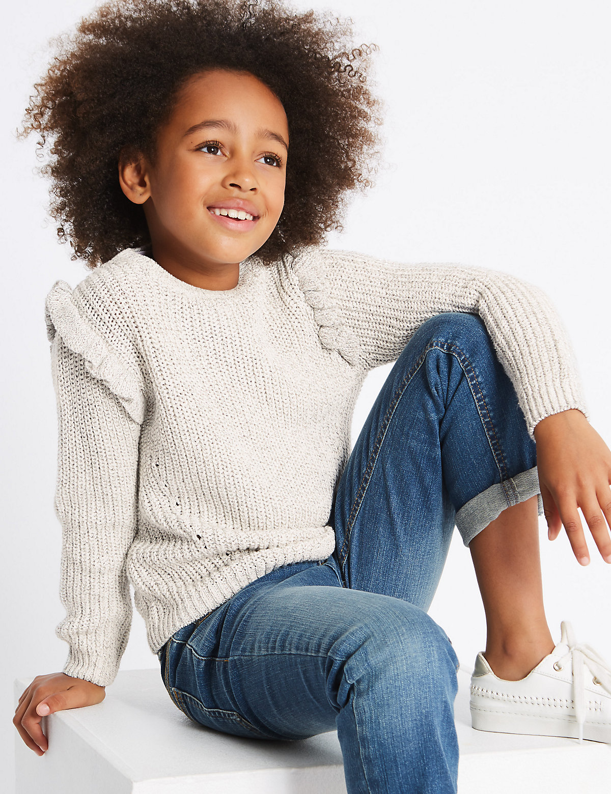 Cotton Rich Frill Jumper (3-14 Years).