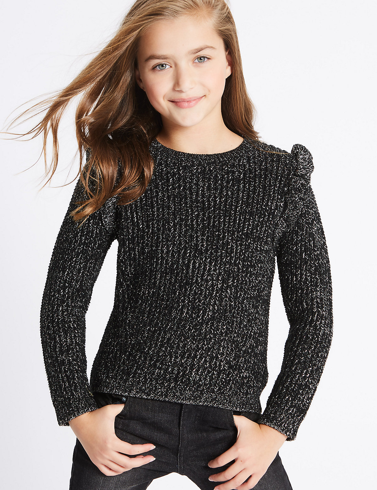 Cotton Rich Frill Jumper (3-14 Years)