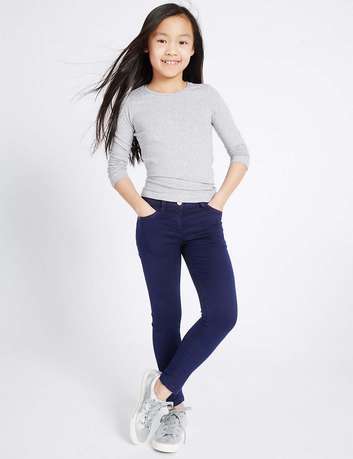 Super Skinny Jeans with Adjustable Waist (3-14 Years)