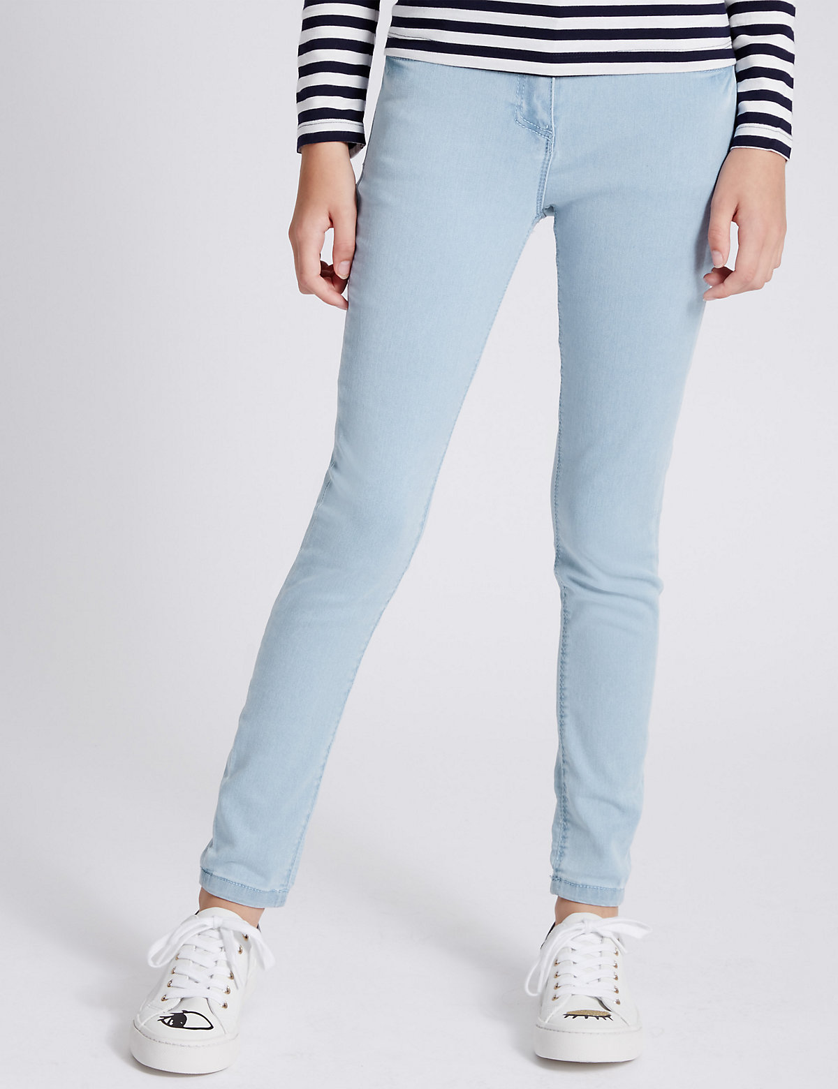 Cotton Blend Adjustable waist Skinny Jeans (3-14 years)