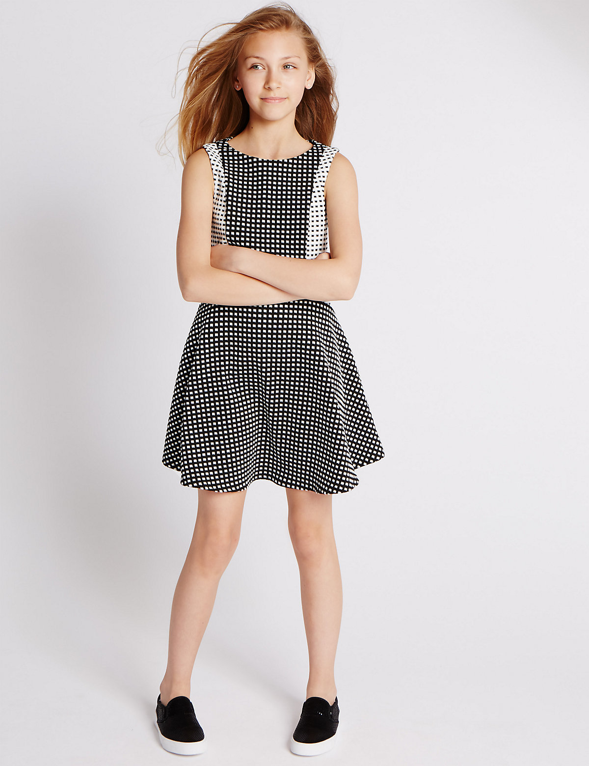 Sleeveless Ponte Dress (5-14 Years)
