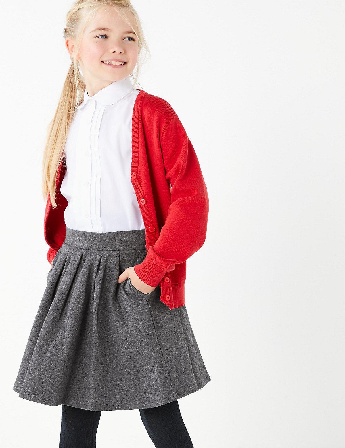 Girls' Cotton Rich Knitted Skirt