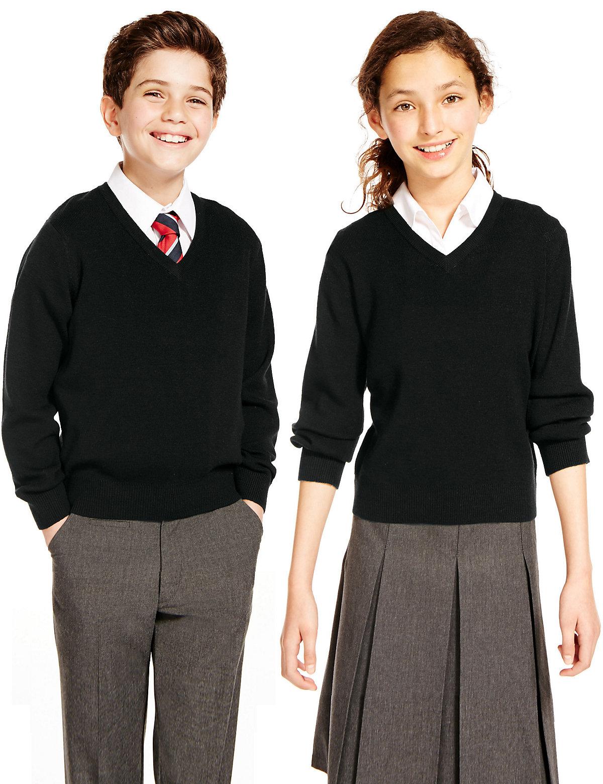 Unisex Pure Merino Wool Easy Care Jumper