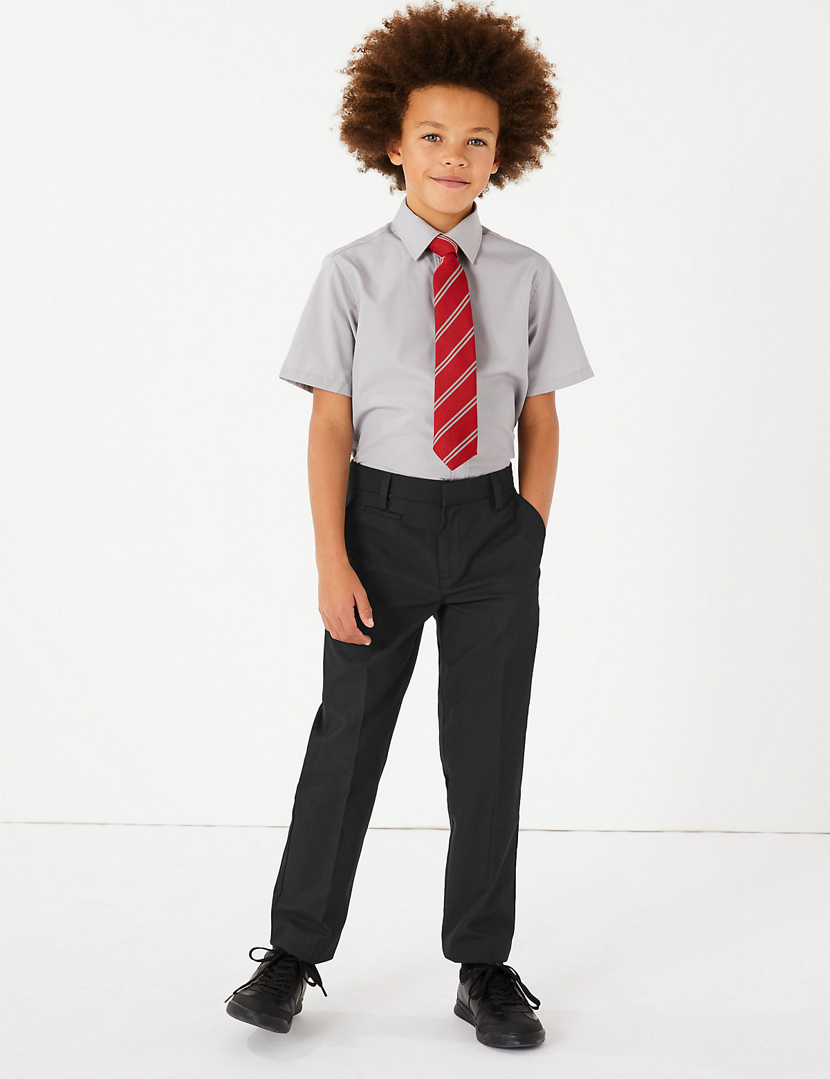 Boys' Slim Leg Trousers with Supercrease