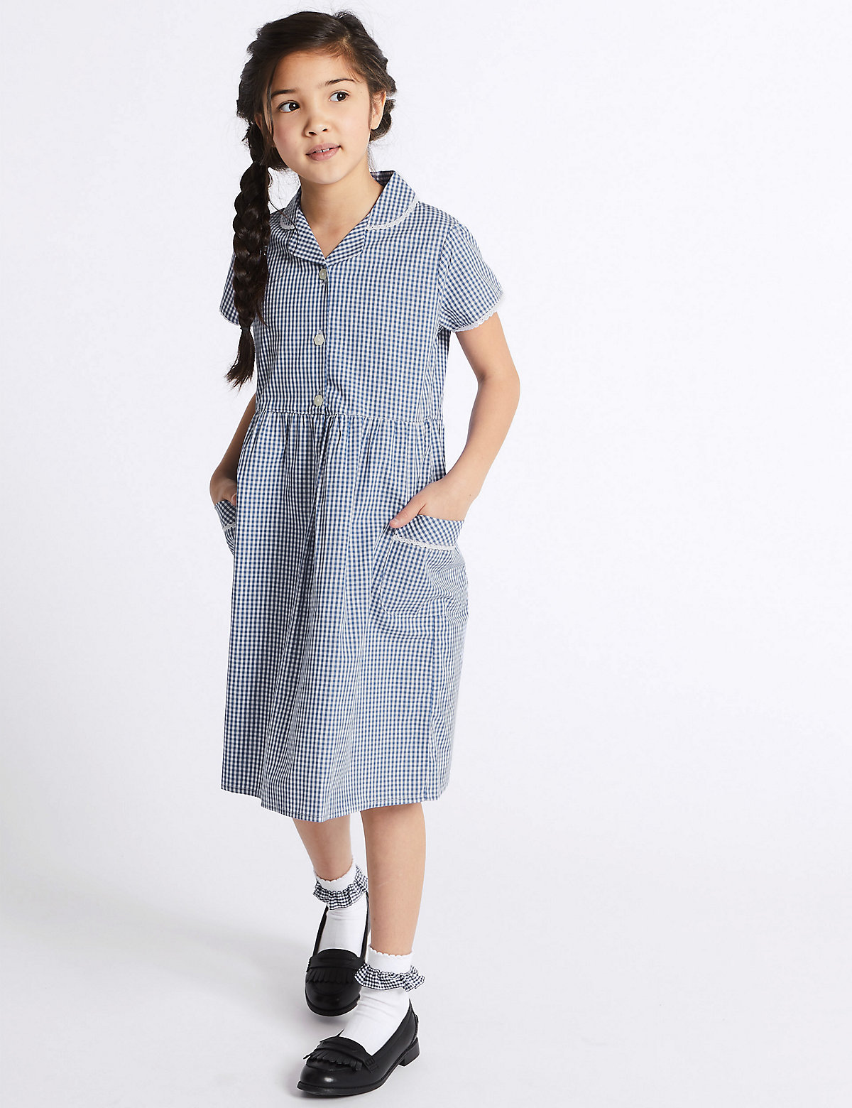 Skin Kind Pure Cotton Summer Gingham Checked Dress