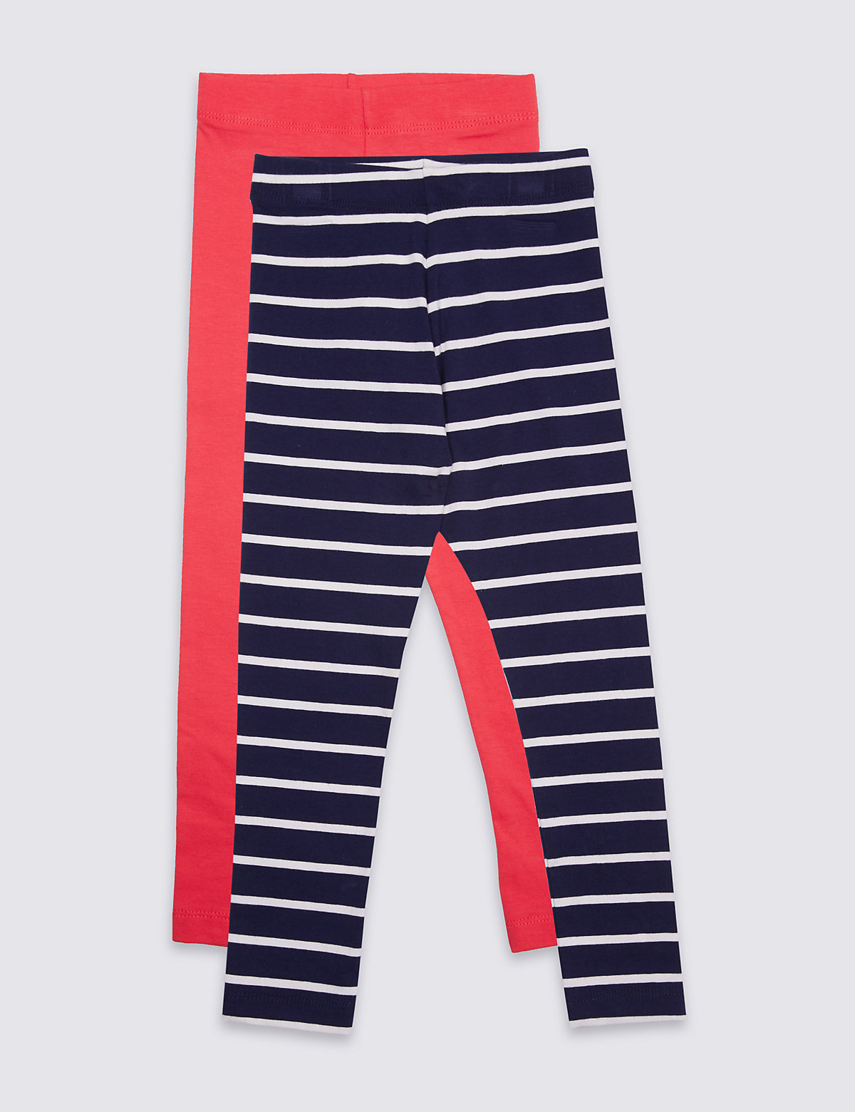 2 Pack Cotton Leggings with Stretch (3 Months - 5 Years)