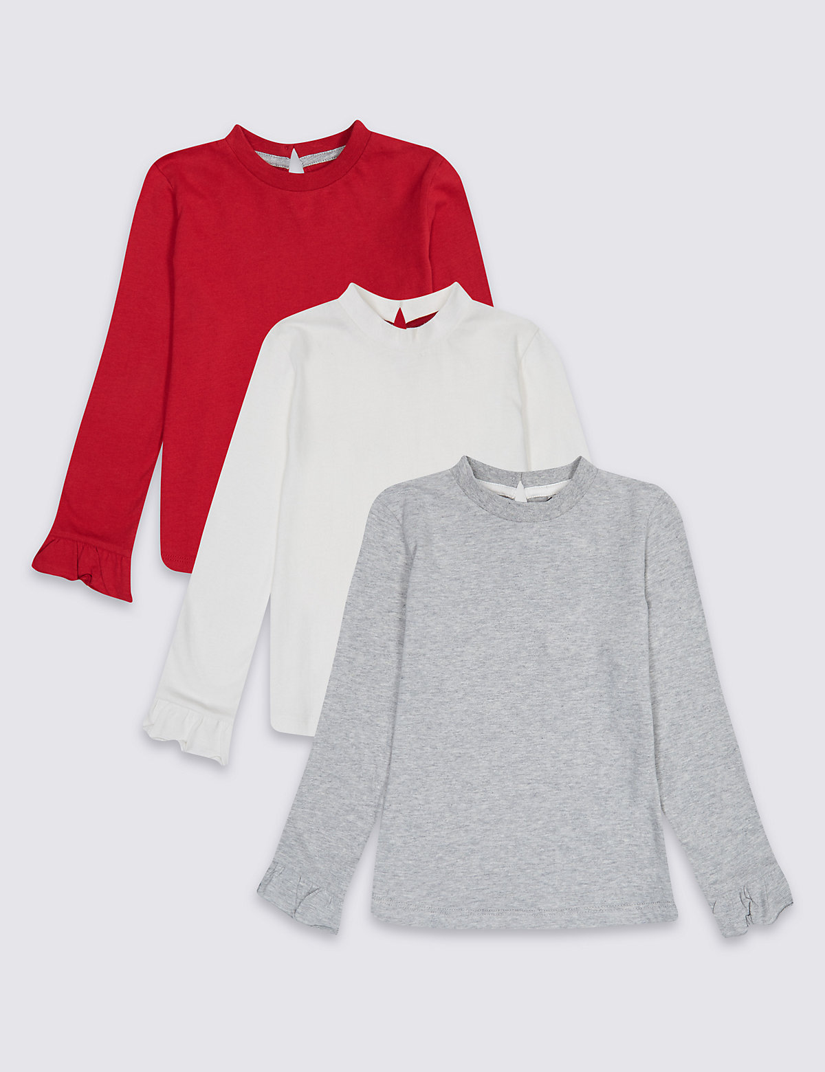 3 Pack Pure Cotton Tops (3 Months - 5 Years)