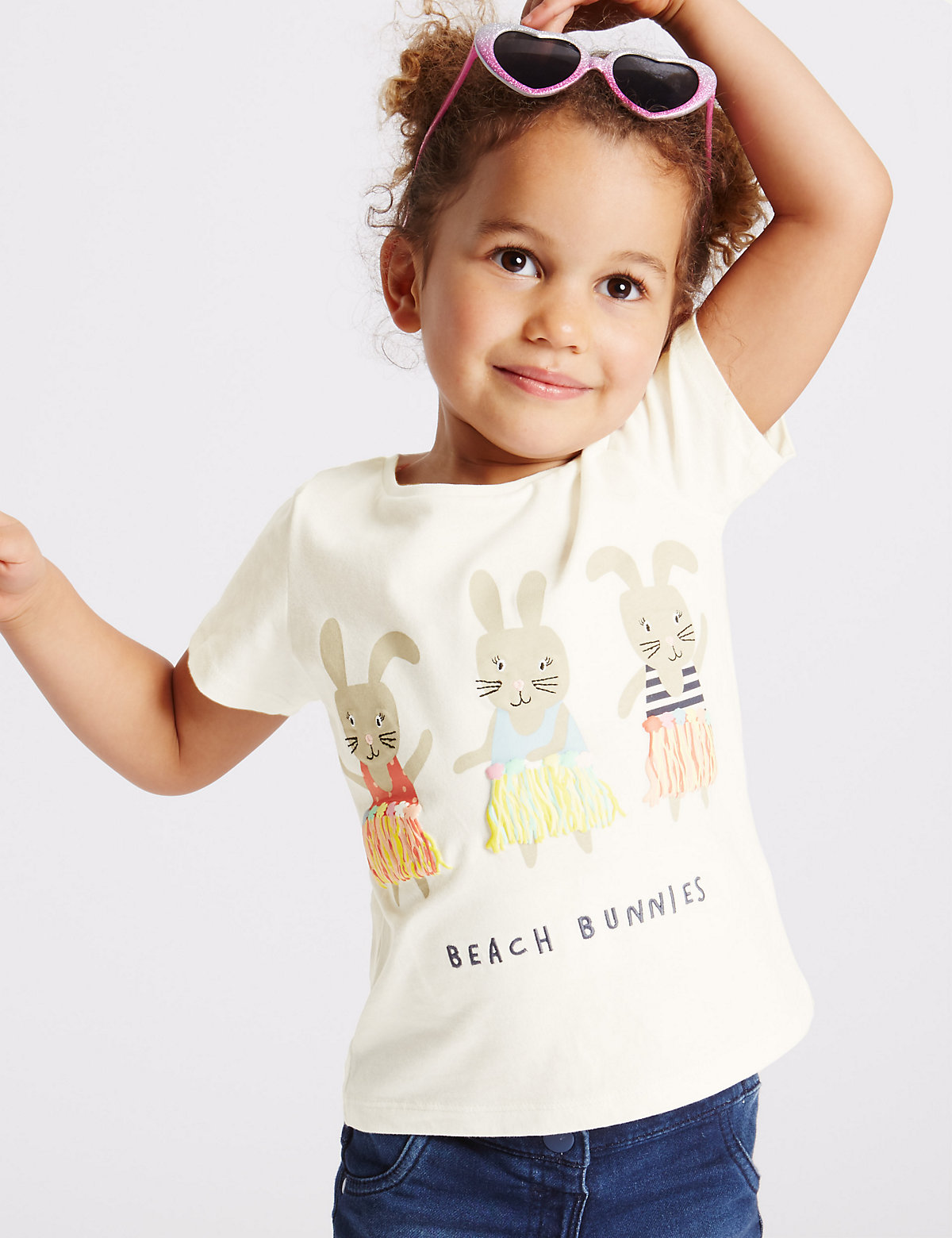 Pure Cotton Bunnies Print Top (3 Months - 5 Years).