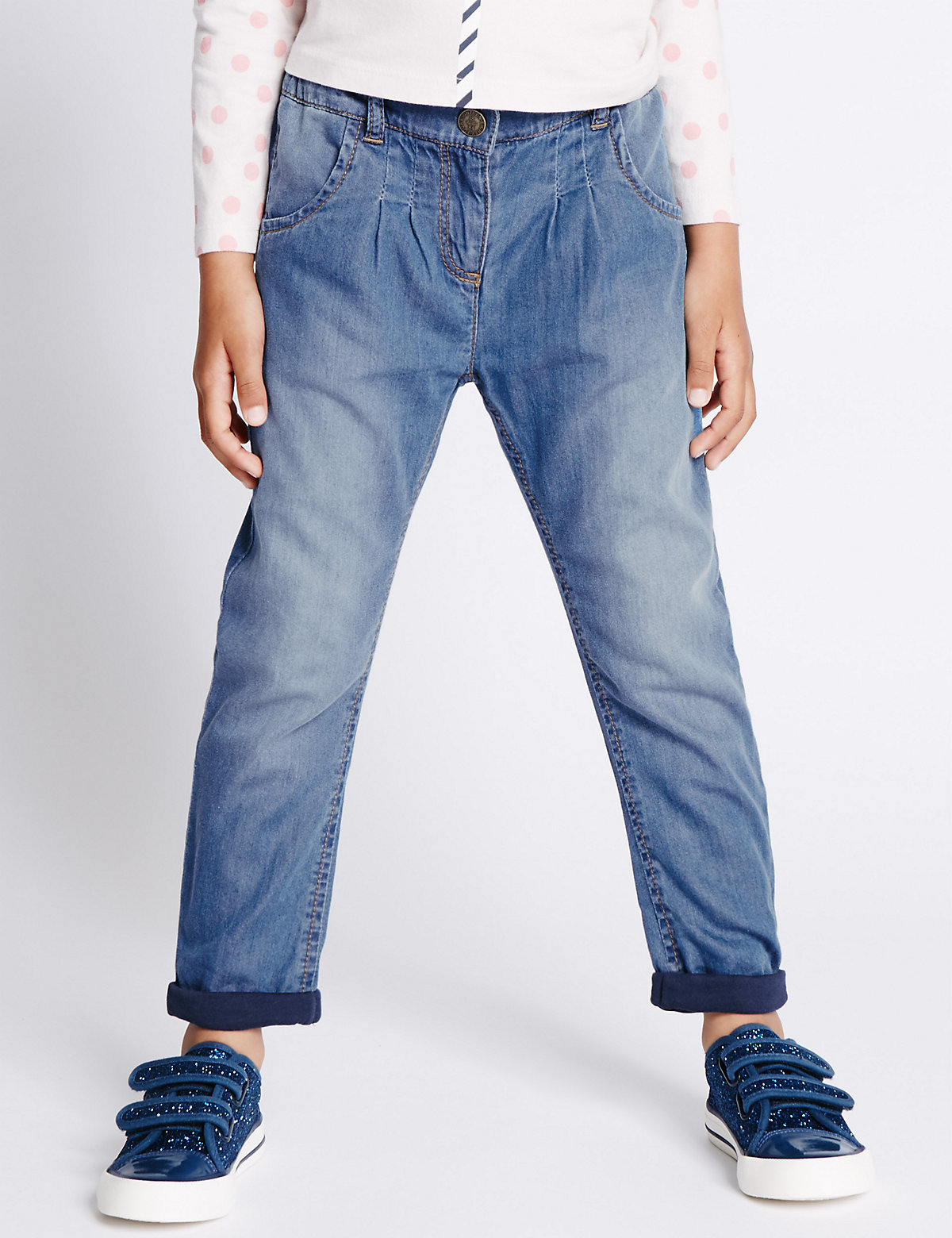 Pure Cotton Adjustable Waist Denim Jeans (1-7 Years)