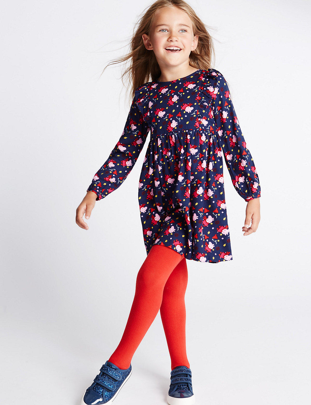 Peppa Pig Woven Dress with Tights (1-7 Years)