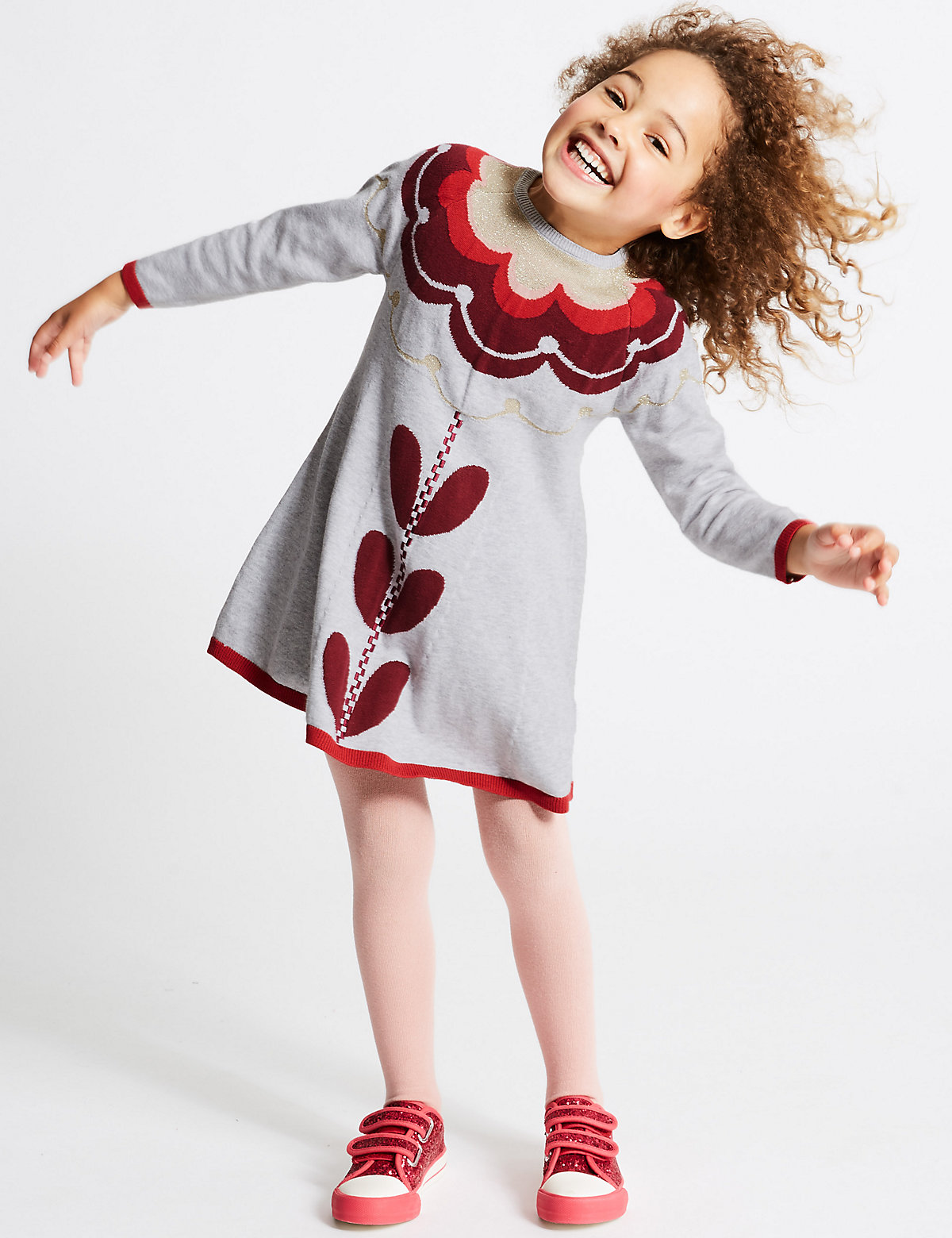 2 Piece Dress with Tights Outfit (3 Months - 6 Years)