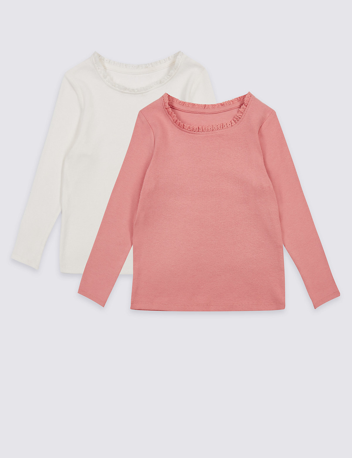 2 Pack Cotton Tops with Stretch (3 Months - 5 Years)