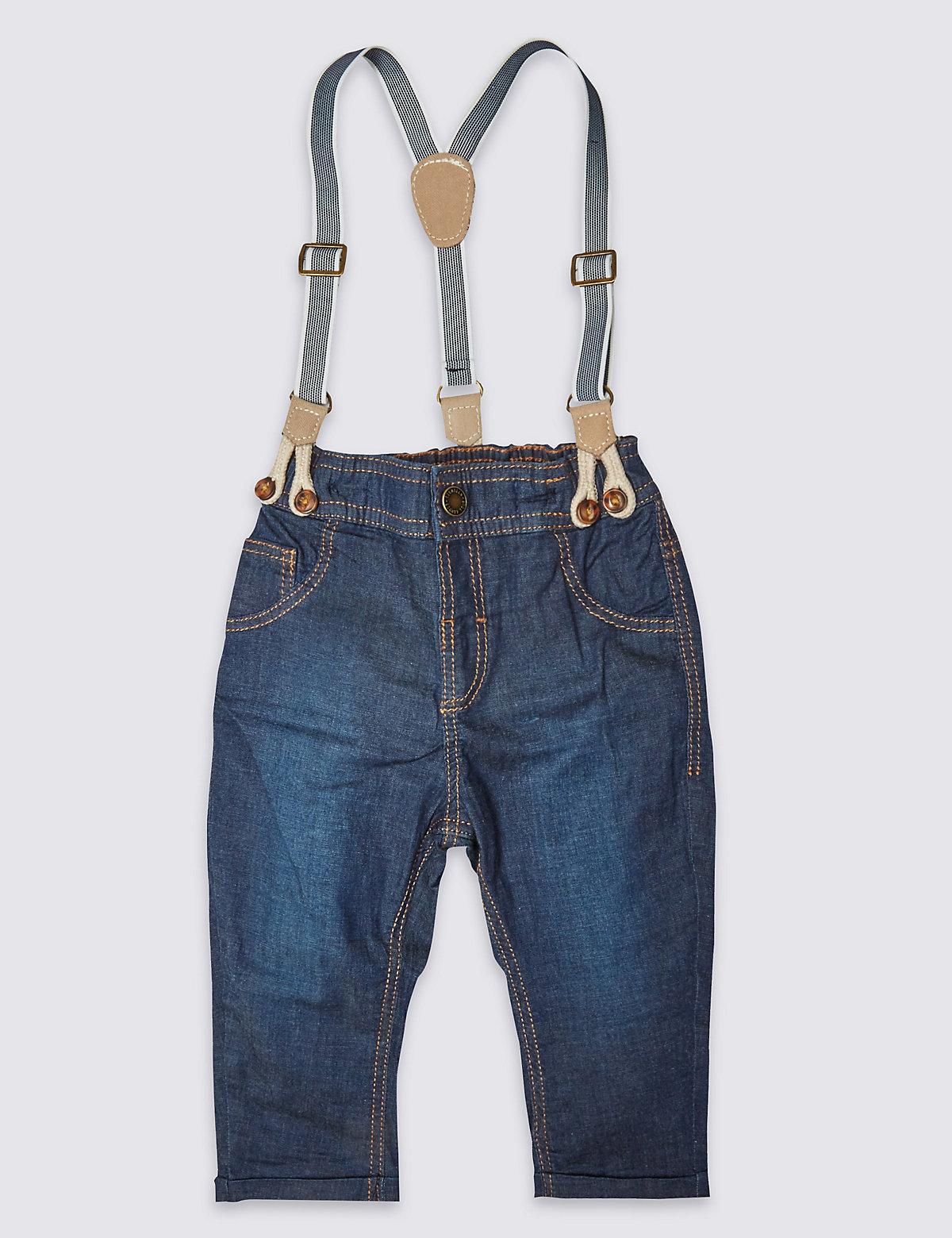 Cotton Rich Braces Jeans