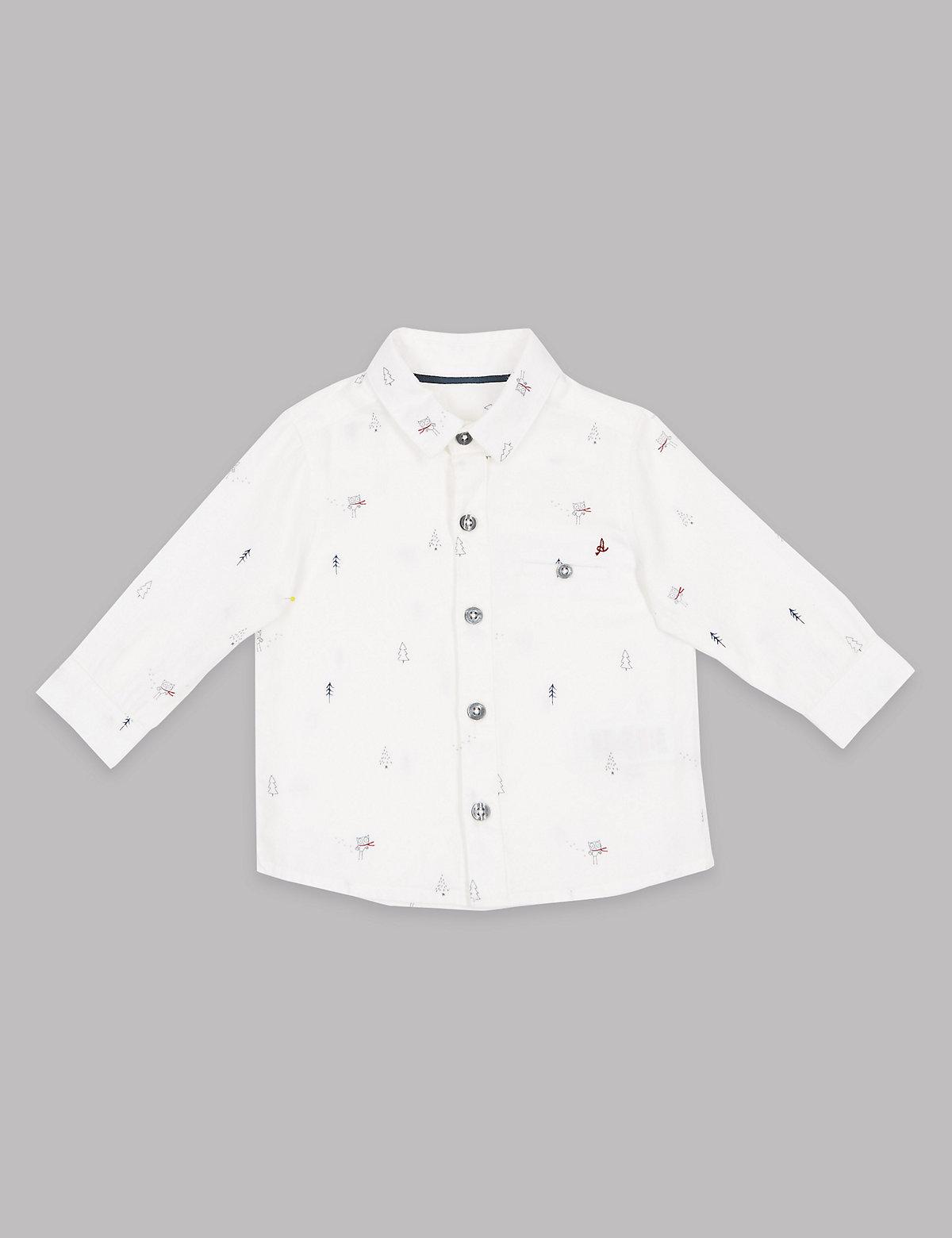 Autograph Pure Cotton All Over Print Shirt