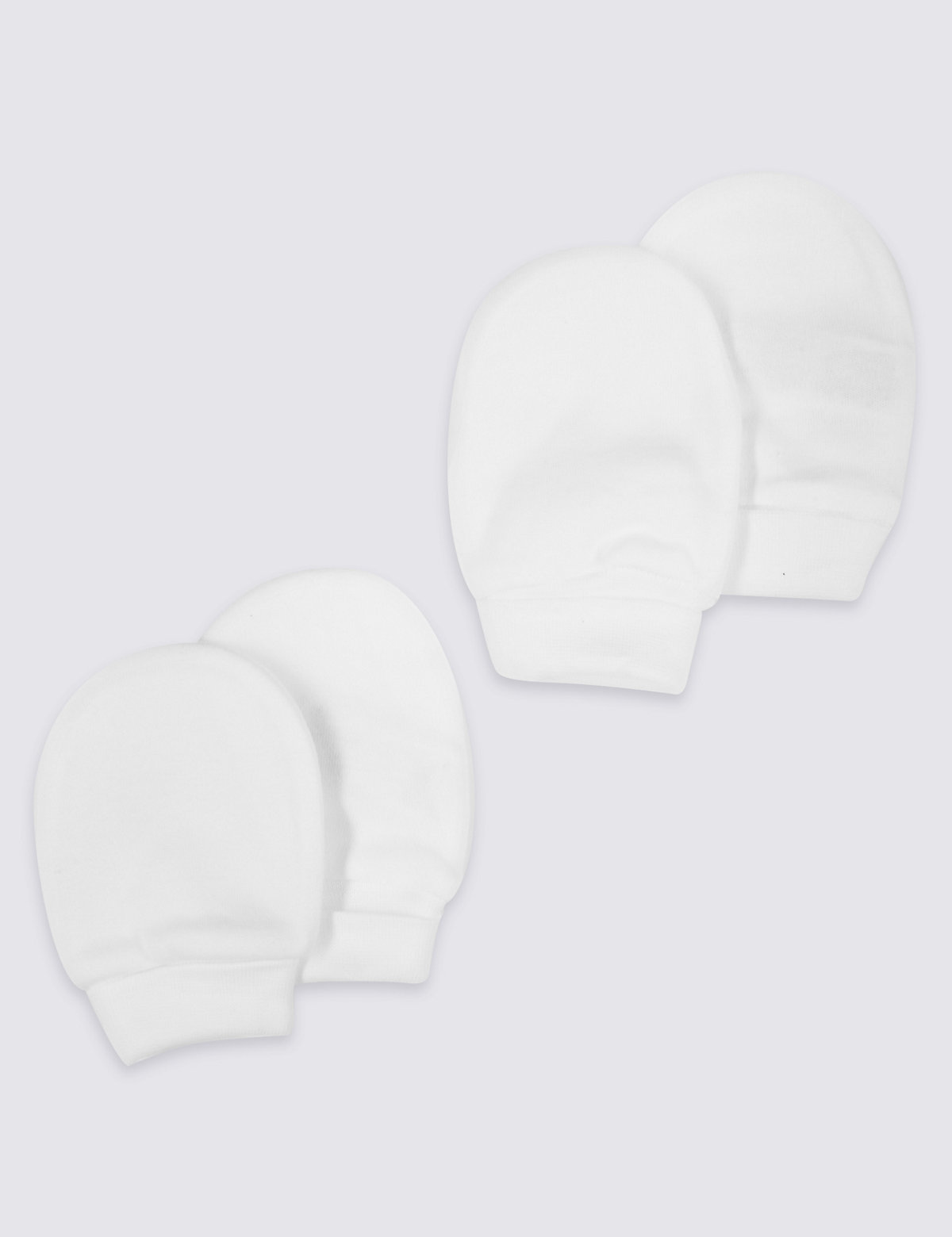 2 Pack Pure Cotton Mittens