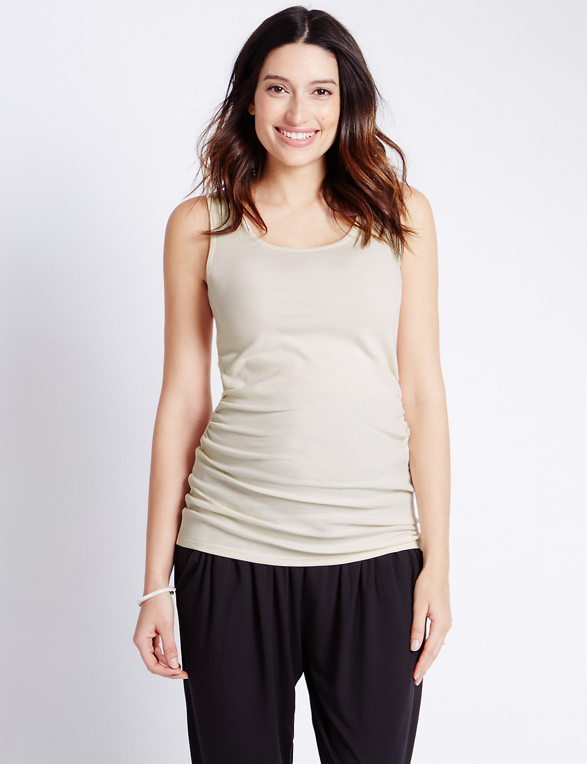 Sleeveless Ribbed Vest Top