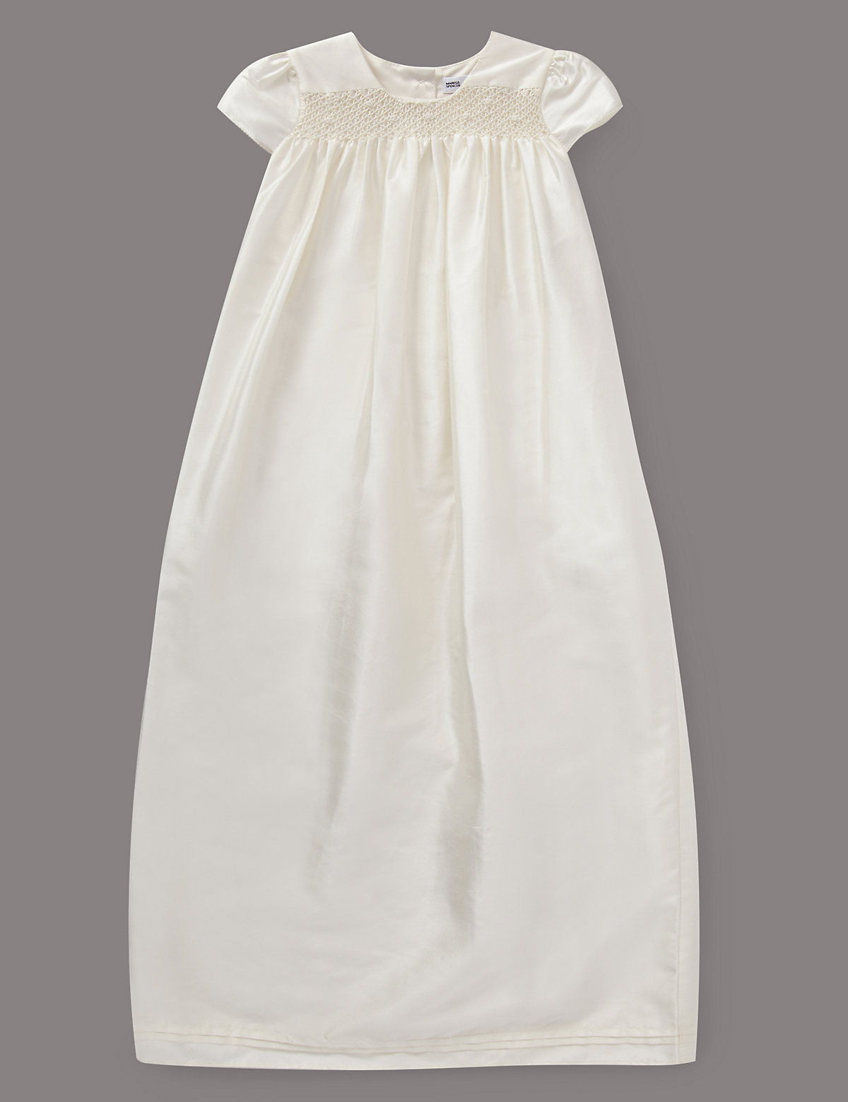 Autograph Pure Silk Smock Christening Dress